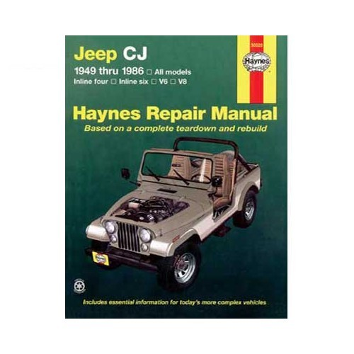 revue technique pour jeep cj de 49 86 9781563922213 978 1 5639 2221 3 haynes50020 haynes 50020. Black Bedroom Furniture Sets. Home Design Ideas