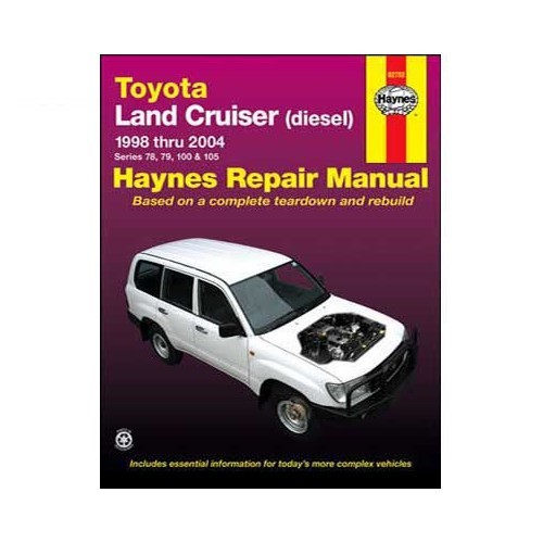 Haynes technical guide for Toyota Land Cruiser Diesel from 98 to 2004