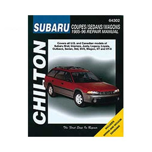 Chilton USA technical guide for Subaru from 85 to 96