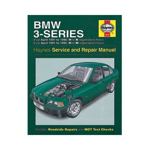 Haynes technical guide for BMW E36 petrol from 91 to 99