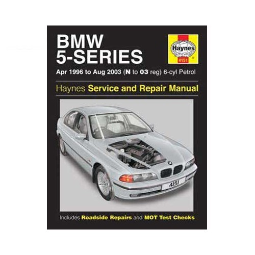 Haynes technical guide for BMW 5 Series 6-cylinder petrol engine from 96 to 2003