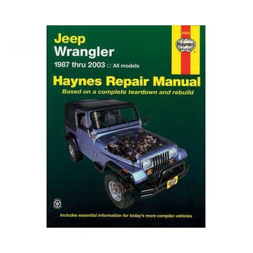 Haynes technical guide for Jeep Wrangler from 87 to 2003