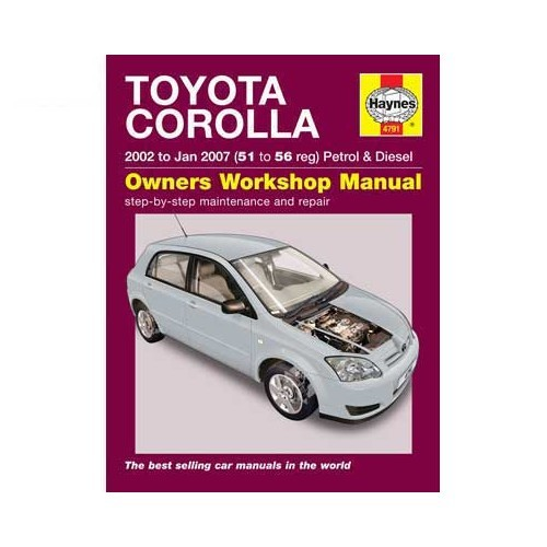Haynes technical guide for Toyota Corolla from 2002 to 2007