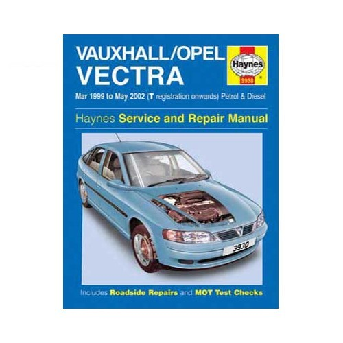 Haynes technical guide for Opel Vectra from 99 to 2002