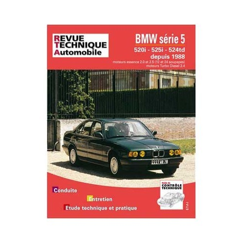 ETAI technical guide for BMW 5 Series E34 from 1988 to 1991