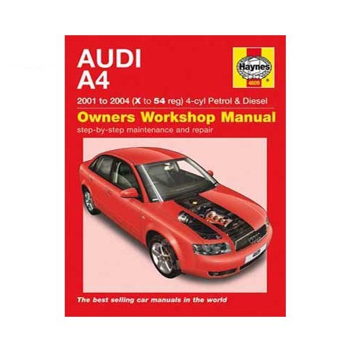 Haynes technical guidefor Audi A4 from 2001 to 2004