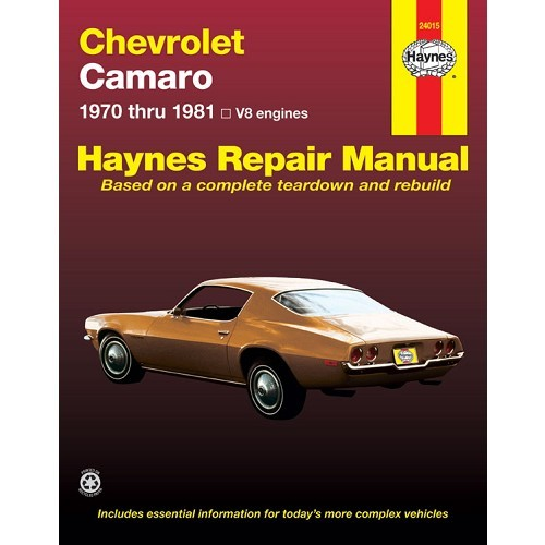 Haynes USA technical guide for Chevrolet Camaro from 70 to 81