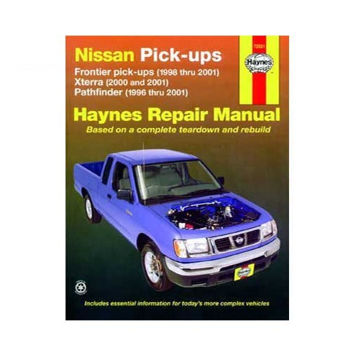 2001 nissan frontier maintenance manual