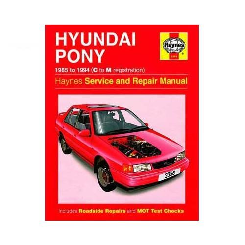 revue technique haynes pour hyundai pony 85 94 haynes 3398 haynes3398. Black Bedroom Furniture Sets. Home Design Ideas