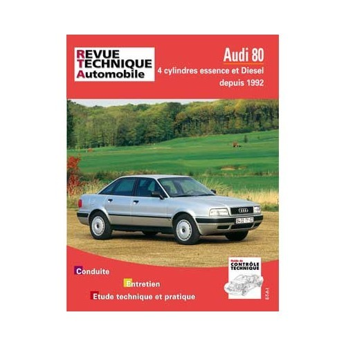 RTA technical guide for Audi 80 4-cylinder petrol and Diesel from 1992
