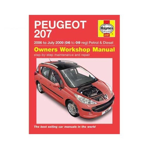 Haynes technical guide for Peugeot 207 from 2006 to July 2009