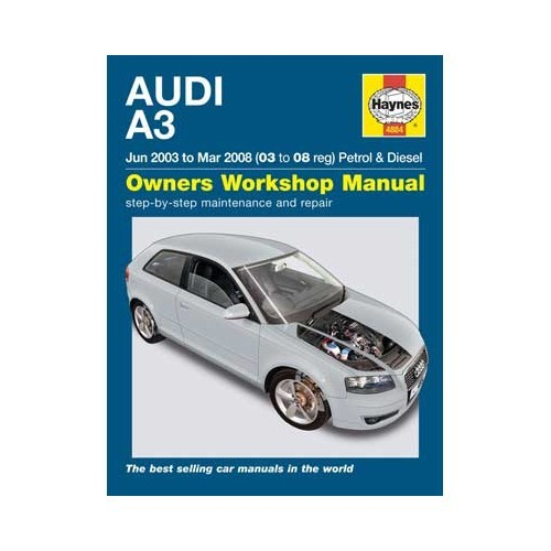 Haynes technical guide for Audi A3 from June 2003 to March 2008