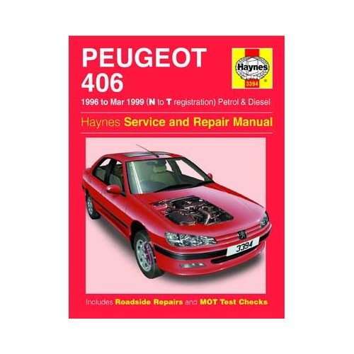 Haynes technical guide for Peugeot 406 petrol and Diesel from 1996to 1999
