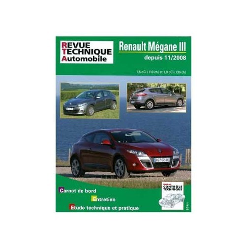 ETAI technical guide for Renault Megane 3 from 11/2008