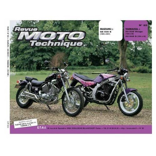 Revista Moto Technique N°83 : Suzuki GS 500 E & Yamaha XV 535 Virago