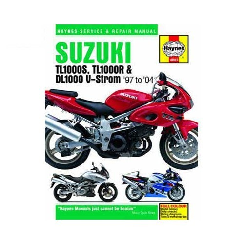 revue technique haynes pour suzuki tl1000s r dl1000 v. Black Bedroom Furniture Sets. Home Design Ideas