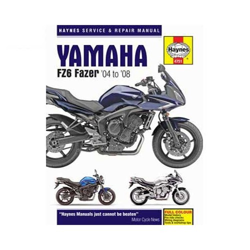 Haynes technical guide for Yamaha Fazer FZ6 from 2004 to 2008