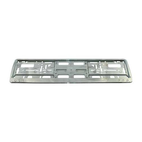 1 License plate support ABS chrome