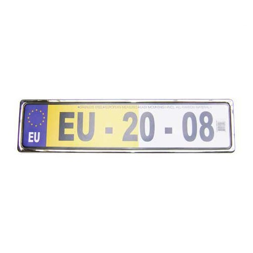 1 License plate support stainless chrome pulish
