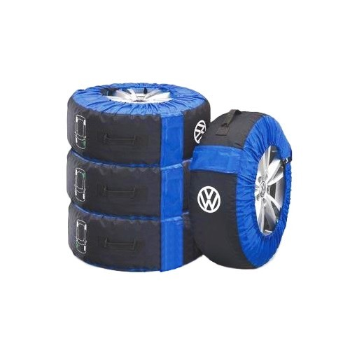 Tyre storage covers with VW sign