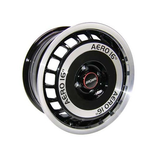 1 RONAL R50 AERO wheel rim, black polished surface, 16 inches, 4 x 100