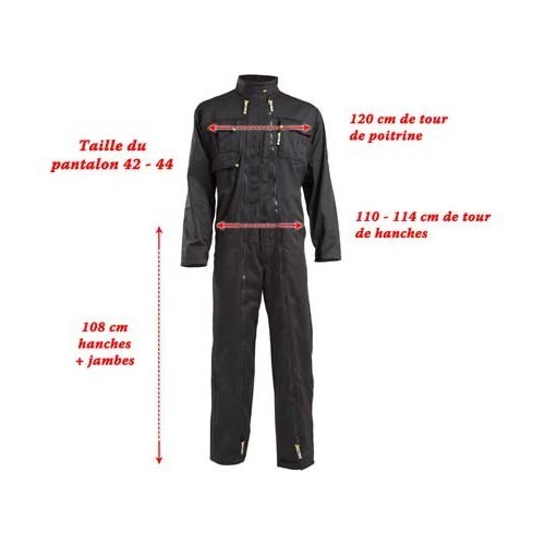 Racing style work overalls - L - black