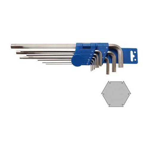 9-piece Special Internal Hexagon Key Set, 1.5 - 10 mm