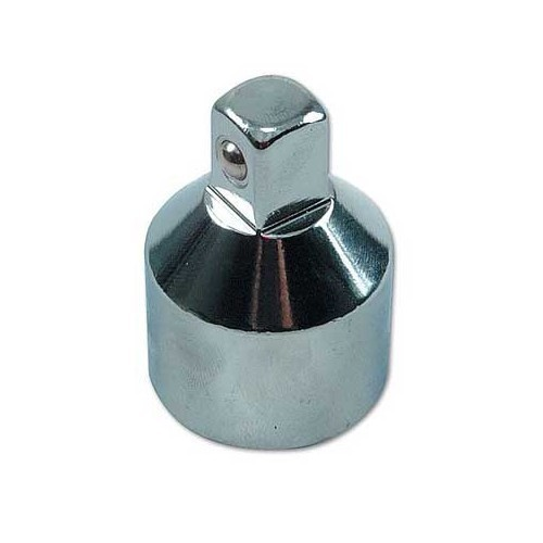 "Adaptor, satin chrome plated, 1/2"" ext. - 3/4"" int."