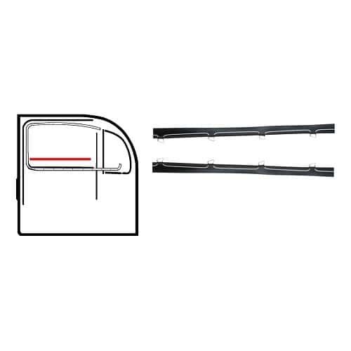 Joints de vitre de porte carrosserie vw coccinelle for Joint vitre fenetre