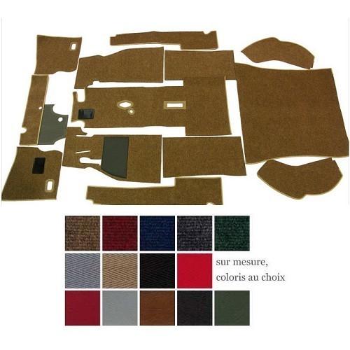 carpet deluxe kit for beetle hatchback 62 ->64