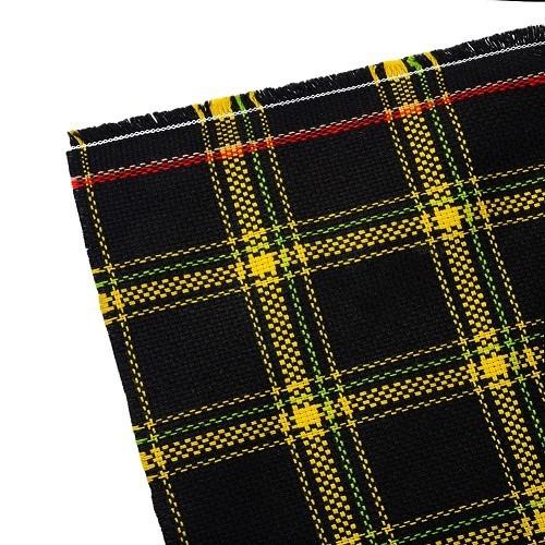 tissu motif cossais jaune pour cox mexico vw coccinelle. Black Bedroom Furniture Sets. Home Design Ideas