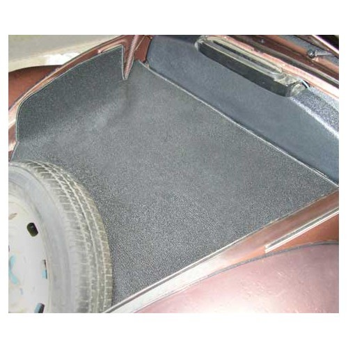 tapis de coffre avant gris pour cox 68 vw coccinelle mecatechnic. Black Bedroom Furniture Sets. Home Design Ideas