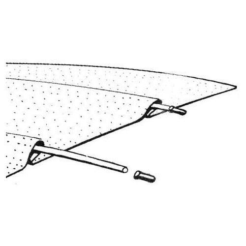 kit 5 baleines sur ciel de toit pour cox vw coccinelle. Black Bedroom Furniture Sets. Home Design Ideas