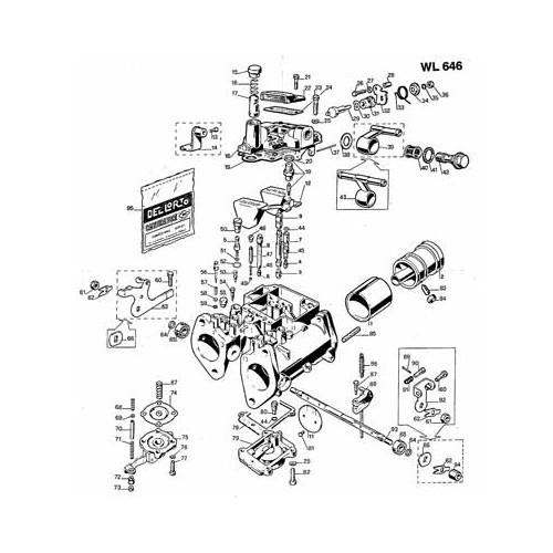 Renovation kit for 2 Dellorto 40 carburettors
