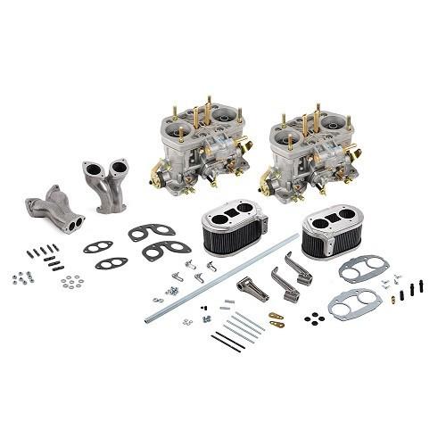 Complete set met 2 carburateurs met dubbele behuizing