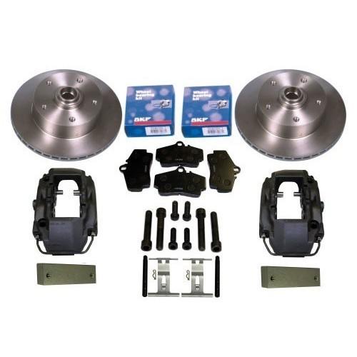 Front brake kit with KERSCHER 5x130 ventilated discs + Porsche callipers  for Beetle 68->