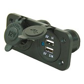 12V dock and 2 USB outlets - to be fitted / 26.00 € ATI