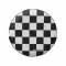 Housse damiers noir blanc pour roue de secours 14 15 for Housse roue de secours