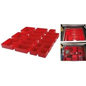 Storage compartment for workshop tool cabinet - 17 pieces