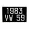 plaque d 39 immatriculation aluminium noir 300 x 200 mm porsche 356. Black Bedroom Furniture Sets. Home Design Ideas