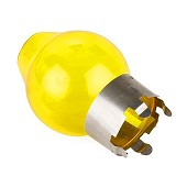 Yellow glass for assembling on a H4 bulb / 6.00 € ATI