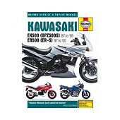 Haynes technical guide for Kawasaki EX500 (GPZ500S) & ER500 (ER-5) from 87 to 05