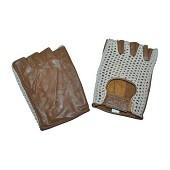 OMP -Tazio- fingerless leather driving gloves - Size L