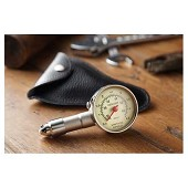 Vintage Speed tyre pressure gauge with black leather cover